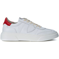 Shoes Men Low top trainers Philippe Model Paris Temple white and red leather sneaker White