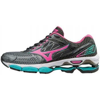 Shoes Women Low top trainers Mizuno Wave Creation 19 Green-Black-Red