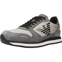 Shoes Men Low top trainers Armani X4X215 XL198 Grey