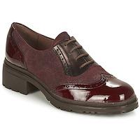 Shoes Women Derby Shoes Wonders NAPHYA Bordeaux