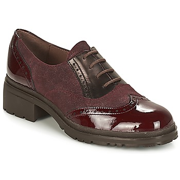 Shoes Women Derby Shoes Wonders NAPHYA Bordeaux