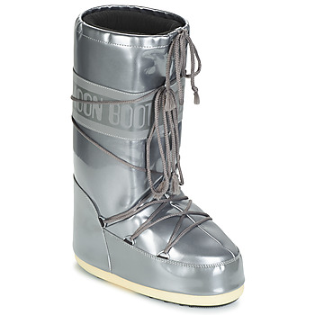 Shoes Women Snow boots Moon Boot MOON BOOT VINIL MET Silver