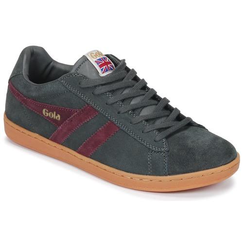 Shoes Men Low top trainers Gola Equipe Suede Grey / Bordeaux