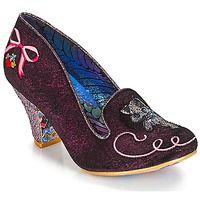 Shoes Women Heels Irregular Choice Fuzzy Peg Pink