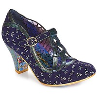 Shoes Women Heels Irregular Choice Nicely Done Blue