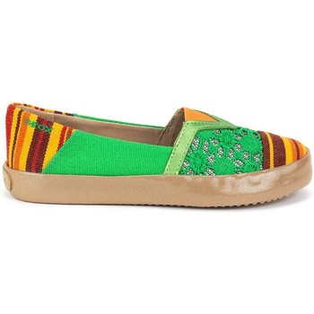 Shoes Children Slip ons Geox JR Kilwi Girl Green-Orange