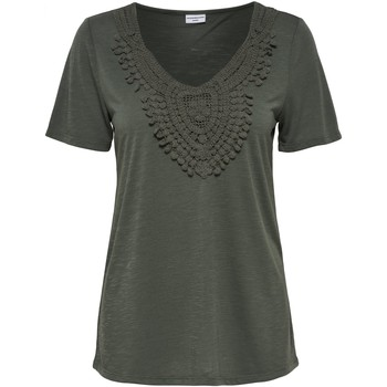 Clothing Women short-sleeved t-shirts Jacqueline De Yong CAMISETA  JDYDODO S/S TOP JRS VERDE
