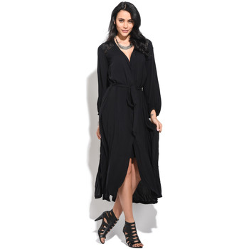 Clothing Women Long Dresses Orfeo Dress CANDACE Black Woman Spring/Summer Collection Black