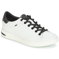 Shoes Women Low top trainers Geox JAYSEN White / Silver