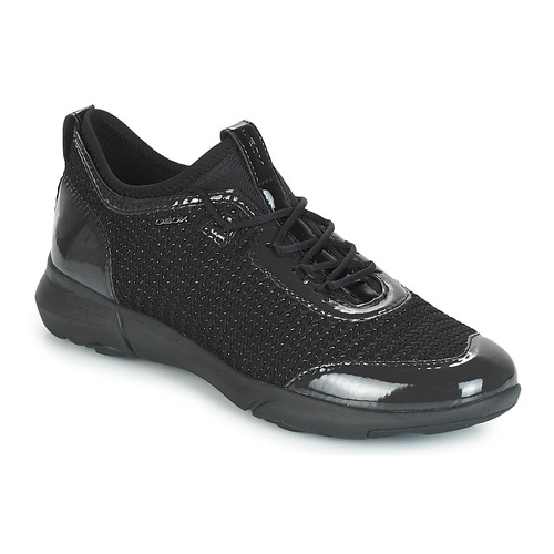 Shoes Women Low top trainers Geox D NEBULA X Black