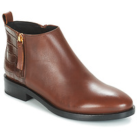 Shoes Women Mid boots Geox DONNA BROGUE Brown