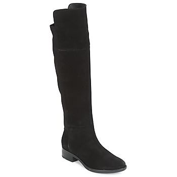 Shoes Women Thigh boots Geox D FELICITY Black