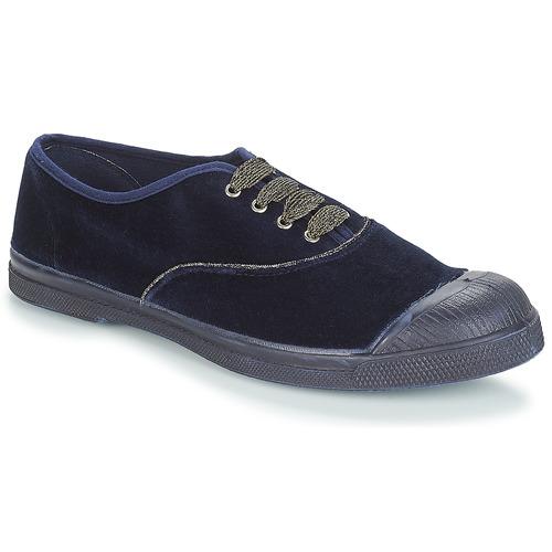 Shoes Women Mid boots Bensimon TENNIS LACET Navy