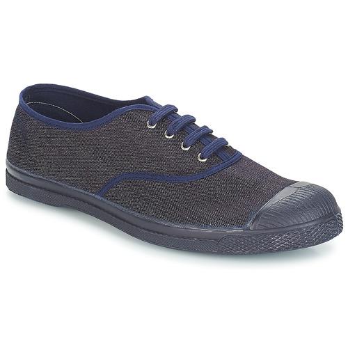 Shoes Men Mid boots Bensimon TENNIS LACET Denim