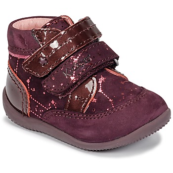 Shoes Girl Mid boots Kickers BILIANA Purple / Pink