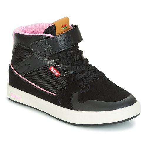 Shoes Girl Hi top trainers Kickers GREADY MID CDT Black / Pink