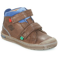 Shoes Boy Hi top trainers Kickers IGUTO Brown