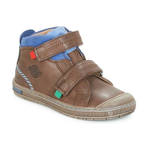 Shoes Boy Hi top trainers Kickers IGUTO Brown