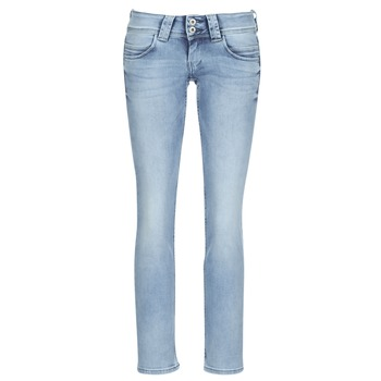 Clothing Women straight jeans Pepe jeans VENUS Blue / Clear