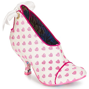 Shoes Women Shoe boots Irregular Choice Love is all around White / Pink