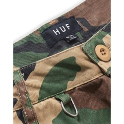 Clothing Men Shorts / Bermudas Huf Standard Issue Cargo Short Green Camouflage Green