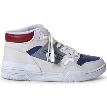 Shoes Men Trainers Champion Mid Cut 3 On 3 Leather Trainer White & Blue White