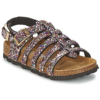 Shoes Girl Sandals Betula Original Betula Fussbett LEONA Pink / Multicoloured