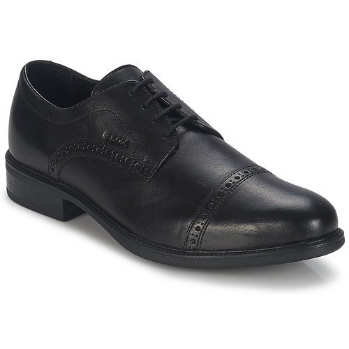 Shoes Men Derby Shoes Geox CARNABY B Black