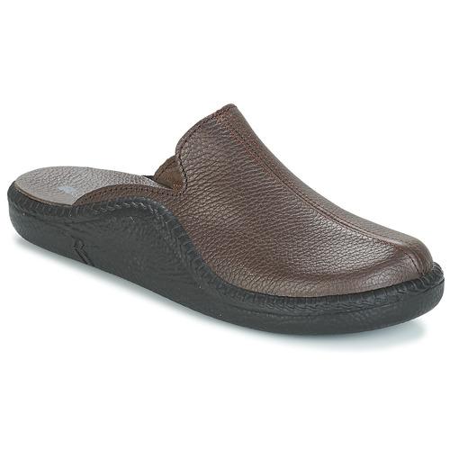 Shoes Men Slippers Romika MOKASSO 202 G Brown