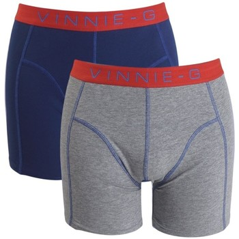 Clothing Men Trunks / Underwear Vinnie G - 2-pack Boxers - Flame Blue Blue