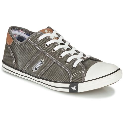 Shoes Men Low top trainers Mustang TIRON Grey