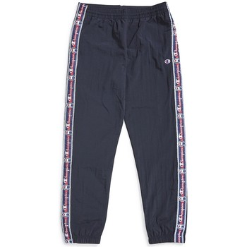 Clothing Men Tracksuit bottoms Champion Taped Side Stripe Track Pants Black
