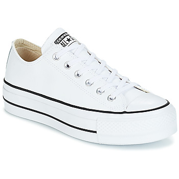 Shoes Women Low top trainers Converse CHUCK TAYLOR ALL STAR LIFT CLEAN OX LEATHER White