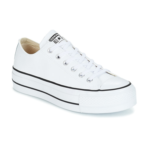055ecd3b3d03 Shoes Women Low top trainers Converse CHUCK TAYLOR ALL STAR LIFT CLEAN OX  White