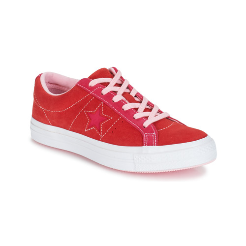 73a0dc5bca6b Converse ONE STAR OX Red   Pink - Free delivery with Spartoo UK ...