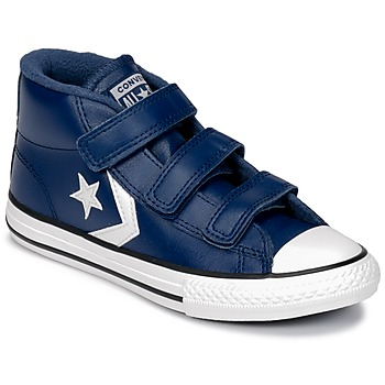 Shoes Children Hi top trainers Converse STAR PLAYER 3V MID Navy / Mason / Blue / Vintage / White