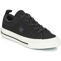 Shoes Children Low top trainers Converse ONE STAR NUBUCK OX Black / White