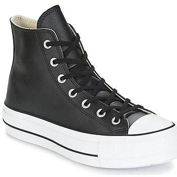 Shoes Women Hi top trainers Converse CHUCK TAYLOR ALL STAR LIFT CLEAN LEATHER HI Black