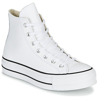 Shoes Women Hi top trainers Converse CHUCK TAYLOR ALL STAR LIFT CLEAN LEATHER HI White