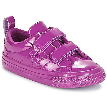 Shoes Girl Low top trainers Converse ONE STAR 2V SYNTHETIC OX Purple