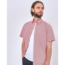 Clothing Men long-sleeved shirts The Idle Man Oversize Fit Dots Print Shirt Red Red