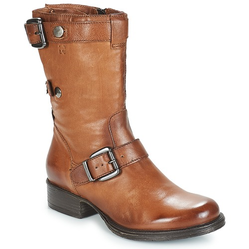 Shoes Women Mid boots Dream in Green ILINE Brown