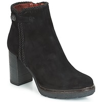 Shoes Women Ankle boots Dream in Green JATUREL Black