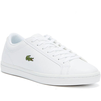 Shoes Women Trainers Lacoste Womens White Straightset BL1 SPW Trainers White