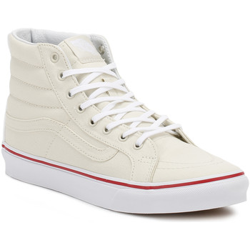 Shoes Women Hi top trainers Vans Womens Bone/True White SK8-Hi Slim Trainers Beige