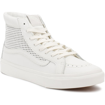 Shoes Women Hi top trainers Vans Womens Blanc De Blanc SK8-Hi Slim Cutout DX Trainers White