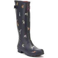 Shoes Women Wellington boots Joules Womens French Navy Cosy Dogs Ajusta Welly Boots Navy