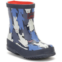 Shoes Children Wellington boots Joules Baby Black Multi Bear Camo Wellington Boots Black