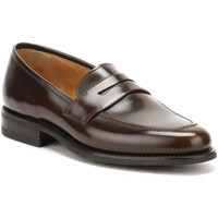 Shoes Men Loafers Loake Mens Dark Brown Leather 211 Loafers Dark Brown