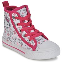 Shoes Girl Hi top trainers Hello Kitty HK LYNDA White
